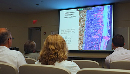 remote sensing workshop presentation on Hurricane Sandy research