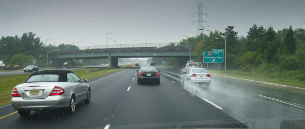 I95 lanes paved with and without porous asphalt