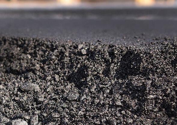 extreme close up of asphalt pavement